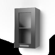 Навесной шкаф 400 со стеклом 4ВС ЛБДП