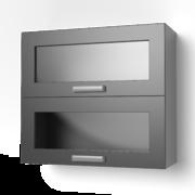 Навесной шкаф 800 горизонтальный со стеклом 8ВГС ЛБДП
