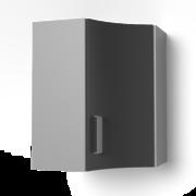 Угловой навесной шкаф 550х550 угол радиусный УВР ЛБДП
